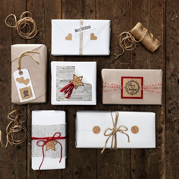 Christmas Gift wrap Ideas from Panuro Hobby  kraft