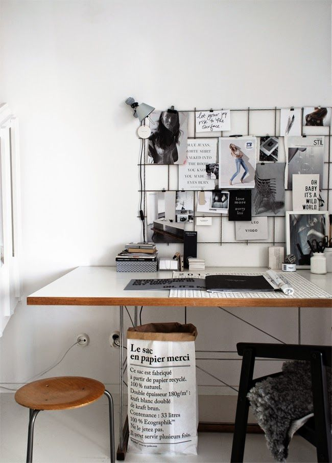 Scandinavian-home-office.-Le-Sac-en-Papier-paper-bag.-from-Stilinspiration