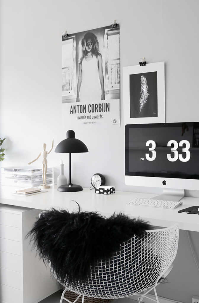 Grey-home-office via stylizimo