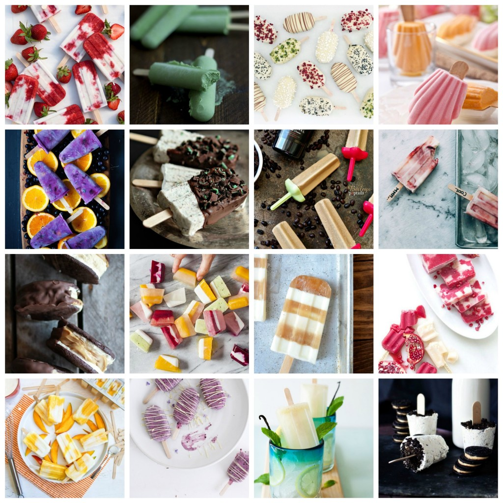 Ice pops Collage