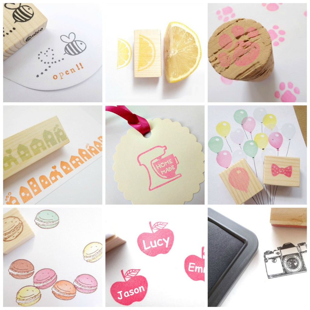 Etsy rubber stamps Collage