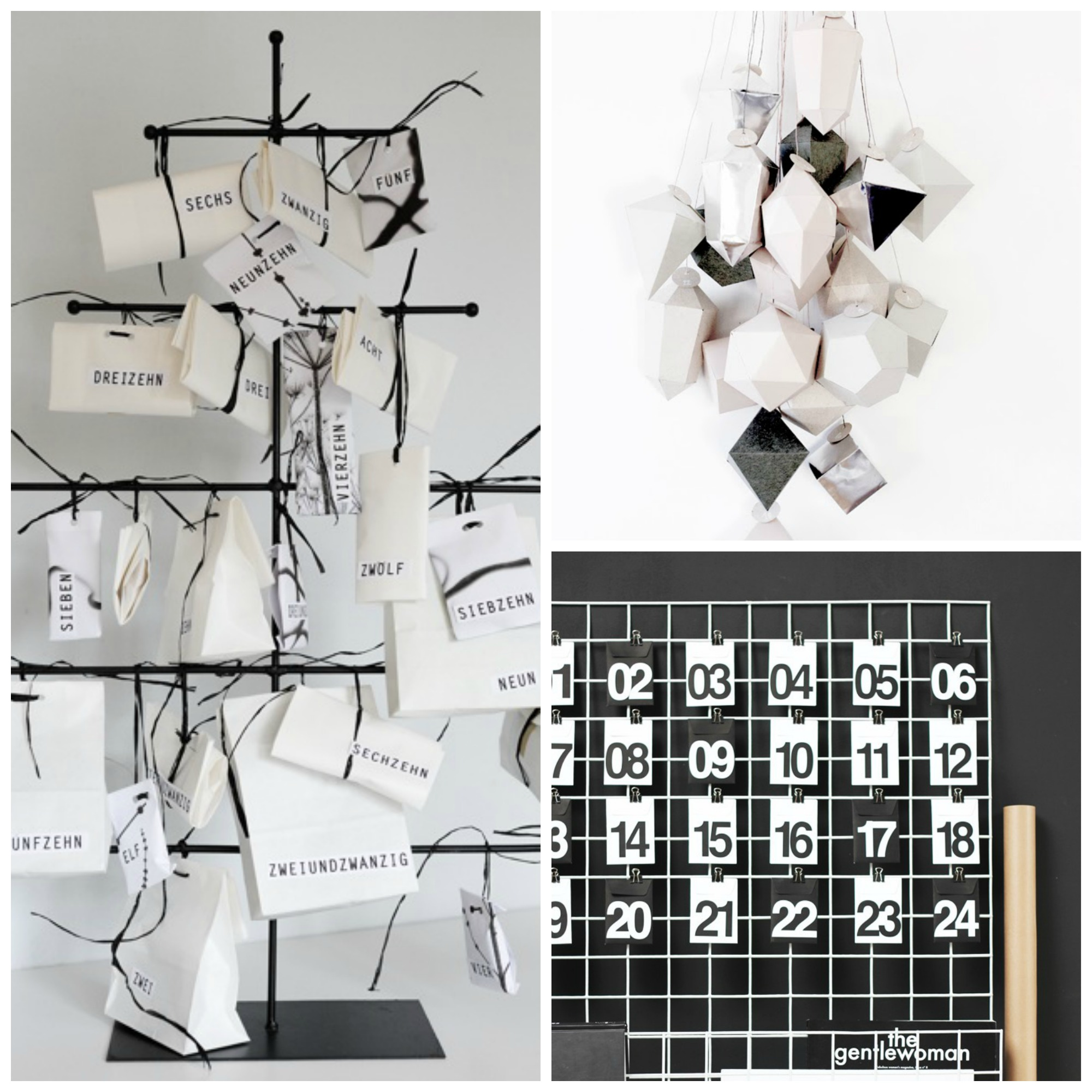 Black and white advent calendar prt two Collage