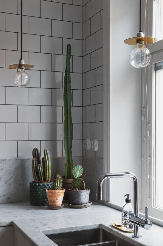 via fantastic frank bohusgatan-cactus-kitcjen-brass-light-bulbs-marble-fantastic-frank-therese_winberg_photography_stylist_emma_wallmen
