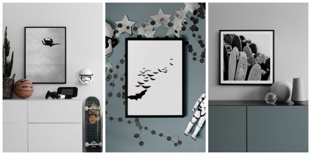 New prints on the wall - boy