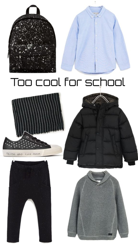 Too cool for school - boy