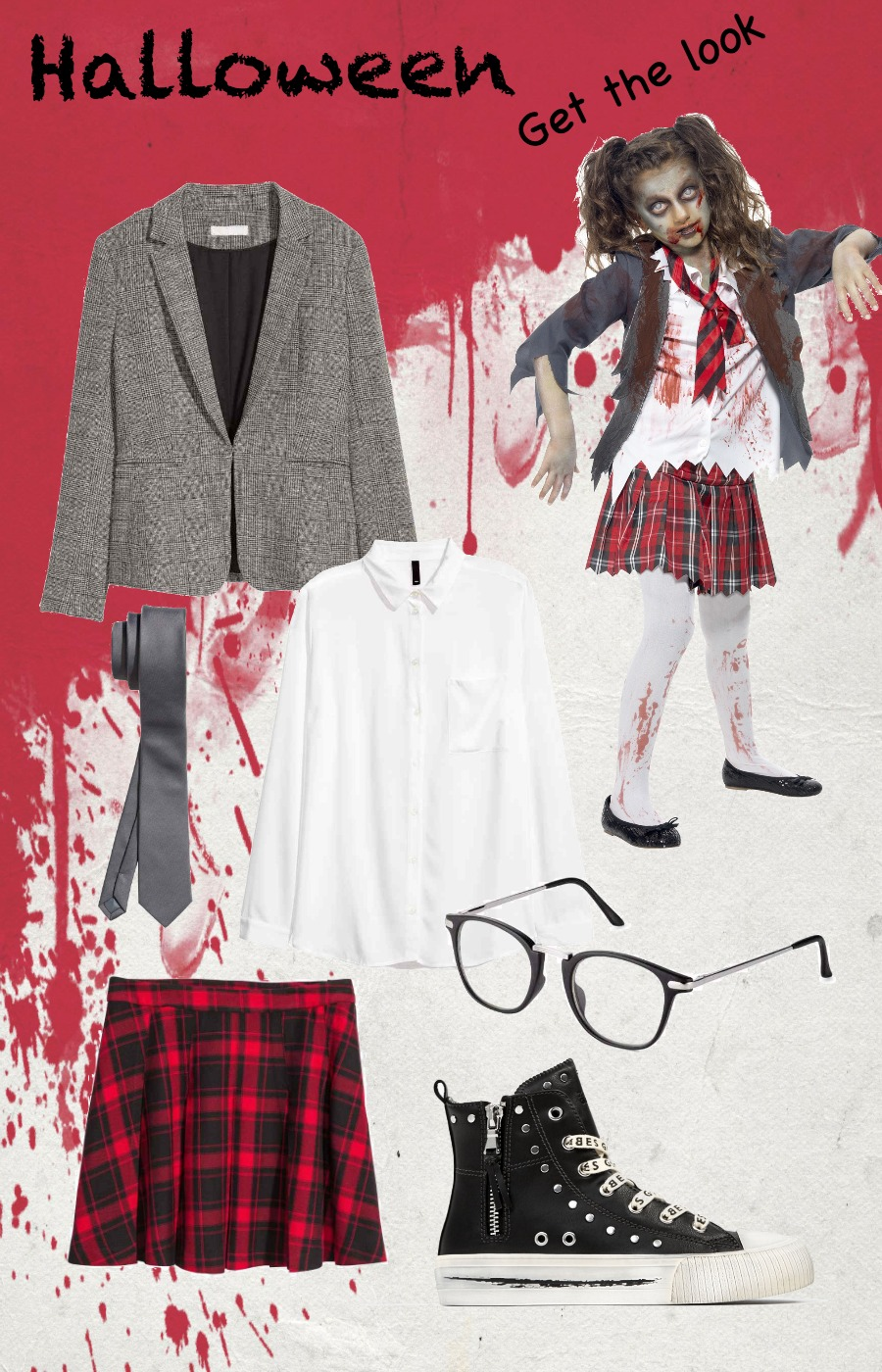Zombie teen Halloween get the look