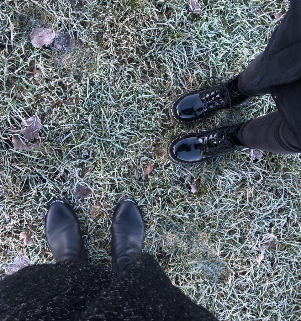 Boots in frosty weather Dr Martens Boots