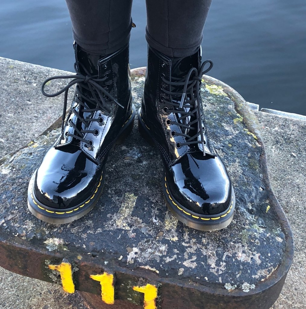 Dr Martens boots by the Fjord